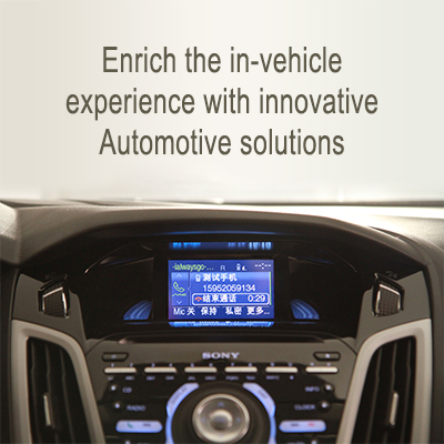 Enrich the in-vehicle experience with innovative automotive solutions