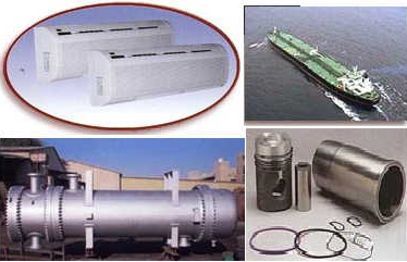 The wide product range includes air conditioning and refrigeration services, marine industrial services, shell and tube heat exchangers, and Volvo spare parts.